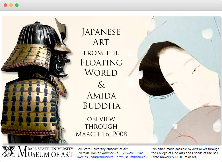 Japanese Art from the Floating World and Amida Buddha, Microsite