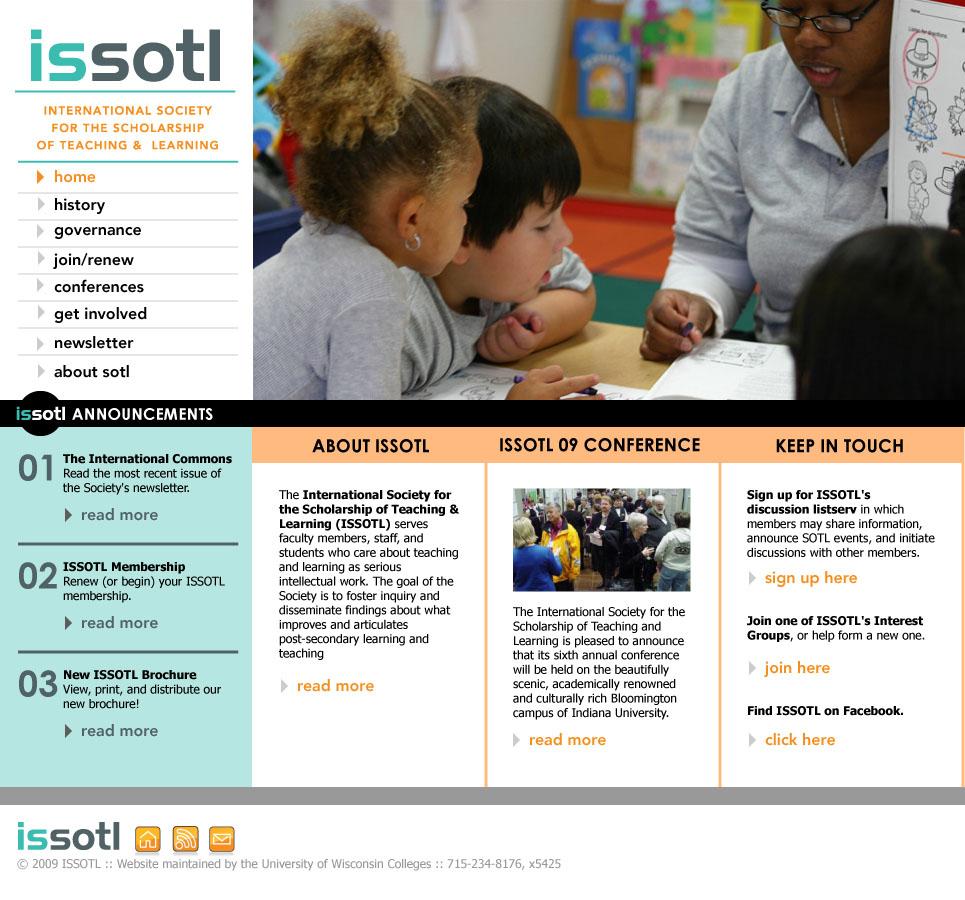ISSOTL, Homepage