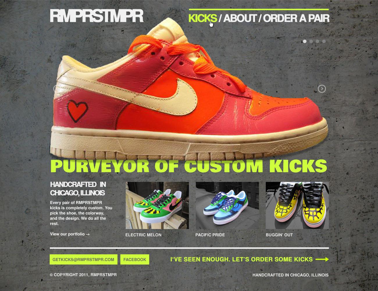 RMPRSTMPR, Homepage